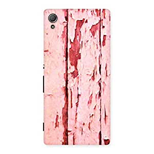 Bar Ripped Red Back Case Cover for Xperia Z4
