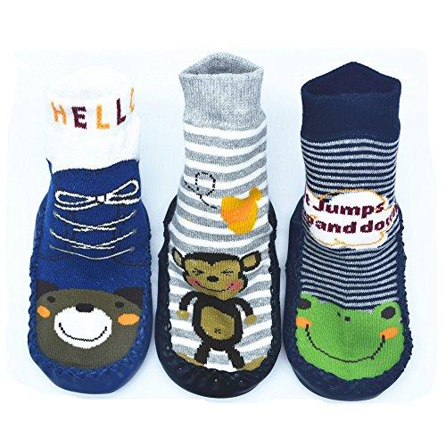Monkey Sock Halloween (BOMPOW Baby Jungen (0-24 Monate) Socken Einheitsgröße Gr. Einheitsgröße, 6-18)