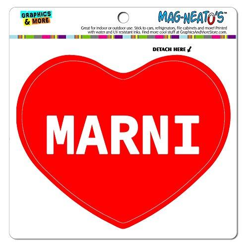 Price comparison product image MAG-NEATO'S(TM) Car Refrigerator Vinyl Magnet I Love Heart Names Female M Mari - Marni
