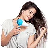 VEU DIVINEXT Professional Folding Hair Dryer with 2 Speed Control 1000W, Multicolor