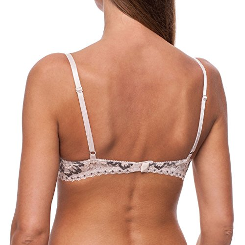 frugue Reggiseno a Mezza Coppa, con Ferretto, Push Up, MADE IN EU Beige, nude