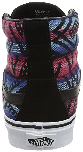 Vans SK8-Hi Slim, Baskets Basses Mixte Adulte Multicolore (Moroccan Geo black/true white)
