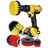Vvciic 3 Stück Power Schrubber Bürsten Set für Bad Bohrer Schrubber Bürste für die Reinigung schnurloser Bohrer Aufsatz Kit Power Scrub Brush