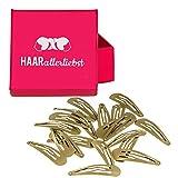 HAARallerliebst Haarspangen für blonde Haare inkl. Schachtel zur Aufbewahrung
