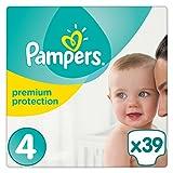 Pampers Premium Protection Windeln, Gr. 4 (8-16 kg), 1er Pack (1 x 39 Stück)