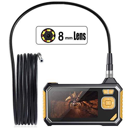 Cámara de inspección Pantalla LCD en Color de 4,3 Pulgadas, boroscopio de Video 1080P HD con 6 LED, cámara de Serpiente Resistente al Agua con batería de Litio de 2600 mah
