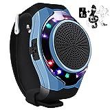 Svpro Wireless Bluetooth Lautsprecher Armbanduhr Tragbare Sport Armband MP3-Musik-Player,Freisprechfunktion,Telefon-Anti-Verlorene,Karten-Unterstützung,Selbstanslöser,USB-Unterstützung (U3-Blau)