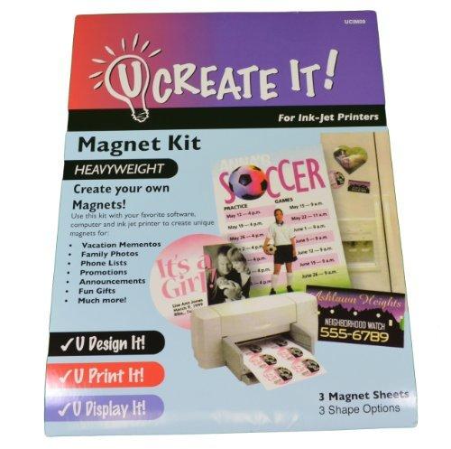 Magnet Kit U CREATE IT Heavyweight Paper for Printers by U Create It (Image Printer)