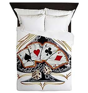 Queen housse de couette quatre types poker pique amazon - Amazon housse de couette ...