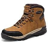 AX BOXING Uomo Stivali da Neve Invernali Scarpe Allineato Pelliccia Caloroso Caviglia Piatto Stivaletti Sportive Boots Escursionismo (45 EU, A7351-giallo)