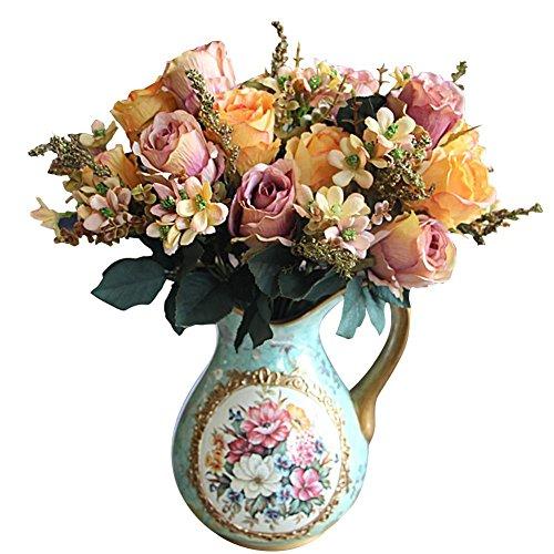 soledi-kunstliche-rose-rosenstrauss-blumenstrauss-zimmer-garden-hotel-hochzeit-deko-helllila-orange