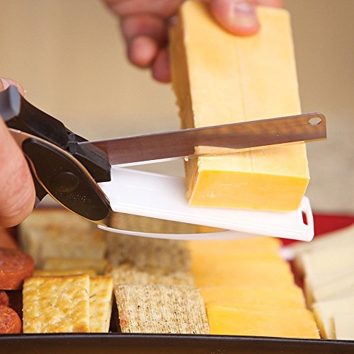 Hochwertige 2in 1Clever Cutter, Cutting Board Schere AS SEEN ON TV, Food Chopper Küchenmesser und Schneidebretter Complex - 2