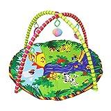 Toyvian Colchoneta de Gimnasia con Ejercicios, Juego de Gimnasia para bebés Colchoneta con 5 Colgantes multisensoriales juguetones (Estilo Solar) 85 x 85 x 85 cm