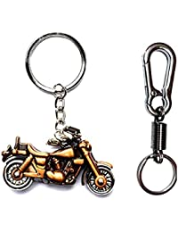 KD COLLECTIONS Combo Of Avenger Royal Enfield Cruiser Bike Metal Keychain With Rotating Wheels And Movable Handlebar...