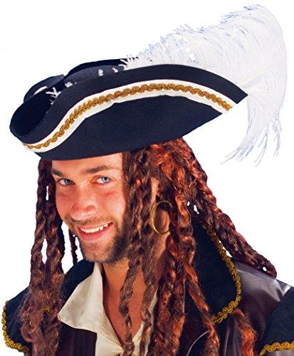 Piraten Hut für Karneval oder (Filz Hut Piraten)