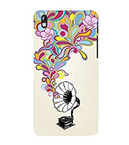 printtech Musical Abstract Back Case Cover for HTC Desire 816
