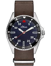 s.Oliver Herren-Armbanduhr Analog Quarz Leder SO-3129-LQ