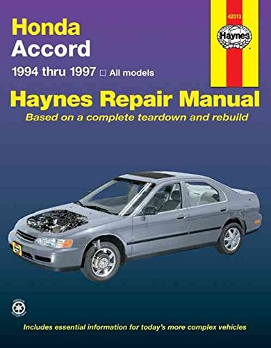 [Honda Accord (1994-1997) Automotive Repair Manual] (By: Jay Storer) [published: January, 1999] (Honda Accord 1996)
