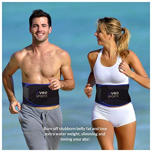 VeoSports Bauchweggürtel Fitness für Männer und Frauen - 2