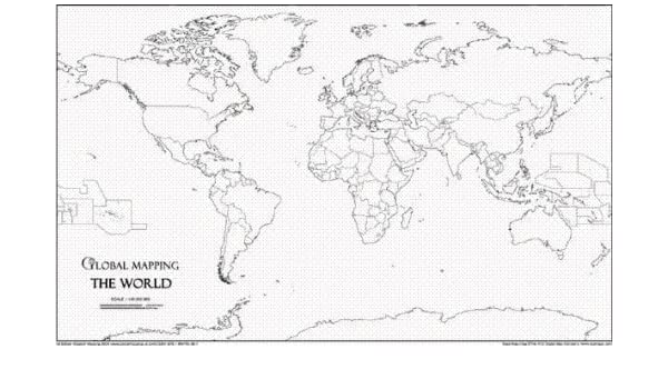 Global mapping world outline a4 map world maps amazon global mapping world outline a4 map world maps amazon global mapping ltd 9781905755387 books gumiabroncs Image collections