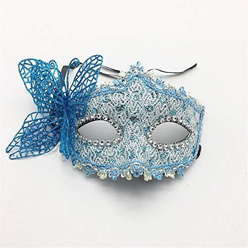 wachsene Maskerade Party Maske Halloween Prinzessin Maske Prom Butterfly Maske Party Augenmaske, blaues Spielzeug ()