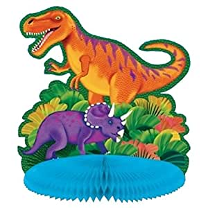 10 Inch Prehistoric Dinosaur Honeycomb Party Table Centrepiece