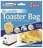 Sealapack Re-usable Toaster Bags Pack 2 Toasted Sandwiches Ready In Minutes