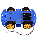 #3: Smart Car Chassis 4WD / Racing Car / Robot Car Chassis / Wheels / Motors (Blue) - KG375