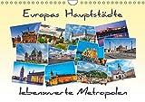 Europas Hauptstädte - lebenswerte Metropolen (Wandkalender 2019 DIN A4 quer): Europa entdecken (Monatskalender, 14 Seiten ) (CALVENDO Orte)