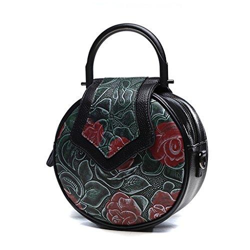 Home Monopoly Sacchetto di spalla casuale della borsa delle donne Sacchetto sveglio della borsa del sacchetto del messaggero del sacchetto piccolo Borsa rotonda della borsa rotonda / con la cinghia di Green pattern