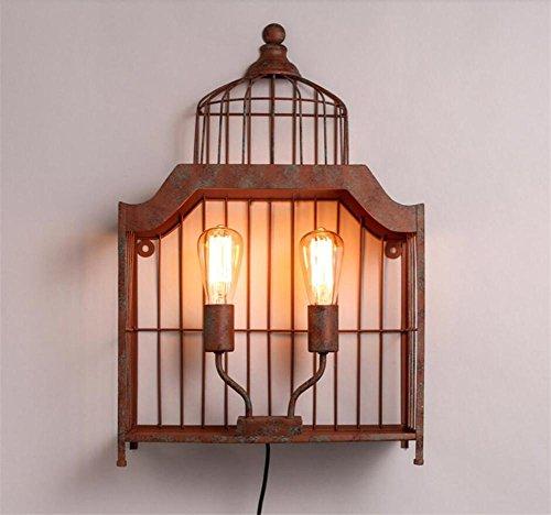 BIUODY Lampada da parete Vintage Industrial Lights parete Lampada da parete del riparo della parete (2 Ferro Loft)