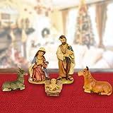 Bakaji Christmas Set Natività per Presepe Napoletano Natale Statuine Presepio in Plastica 5cm Addobbi e Decorazioni Natalizie