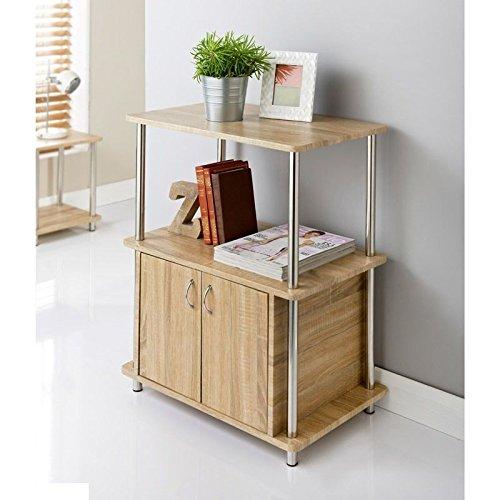 Nuevo moderno Svar 2puerta armario de roble mueble de TV, patas de acero inoxidable marca nueva
