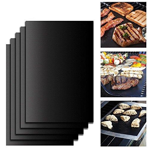 Vogvigo 5 massima qualità barbecue grill mats foglio di teflon barbecue grill forno 100% antiaderente riutilizzabili per anni nella struttura economica e fda certificata