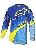 Alpinestars 2017 Motocross / MTB Jersey - Techstar Venom - blau-cyan-neongelb: Größe Shirt: L