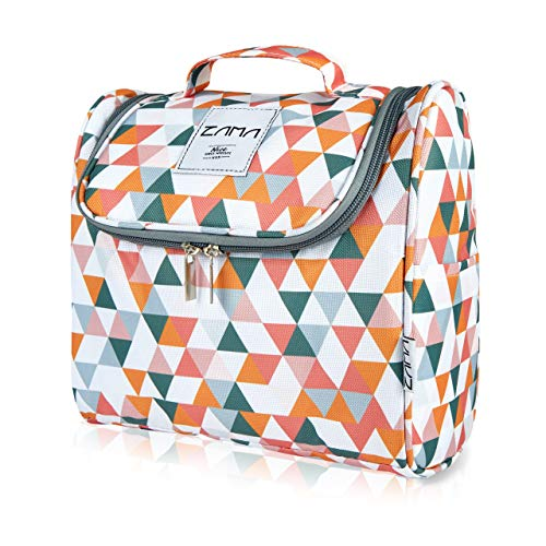 ZAMA XL Design Kulturtasche   Kulturbeutel zum aufhängen mit Haken und Henkel für Damen, Herren und Kinder   Kosmetiktasche, Waschbeutel aufklappbar, groß, leicht für Koffer