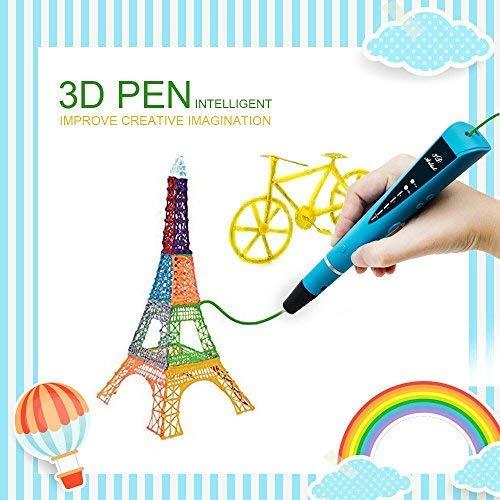 MODAR 3D Stylo d'impression, Intelligent Non-Toxique 3D Pen avec Adaptateur UE, 1 ou 2 Couleurs Al¨¦atoire 1.75mm PLA Fils Filament [Compatible avec Filament en ABS & PLA]