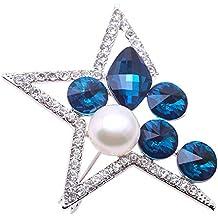 Jyx Star-style fine Blanc perle d'eau douce Broche Bijoux de mariage