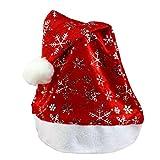 Maison Jardin Queen Best Deals - OverDose Xmas Christmas Nouveau cadeau de noël de noël pour Noël Santa Claus cadeaux non-tissés (Rouge-Argent)