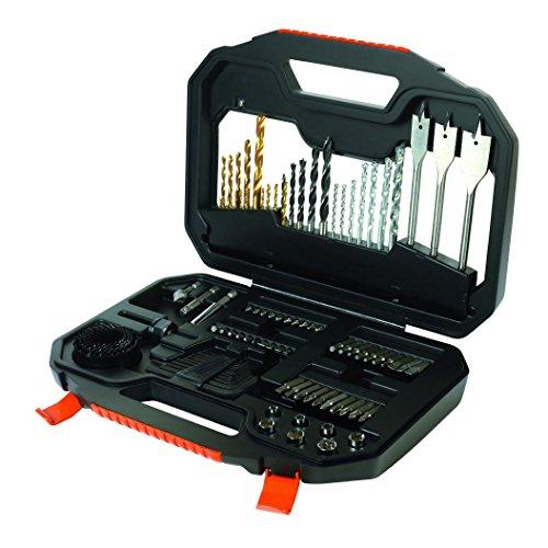 Preisvergleich Produktbild Black & Decker-100Teile zum Bohren und Schrauben-Kit Titanium Black & Decker