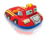 #10: Playking Intex Pool Cruiser Red Fire Engine Inflatable Boat Float for Kids and Children
