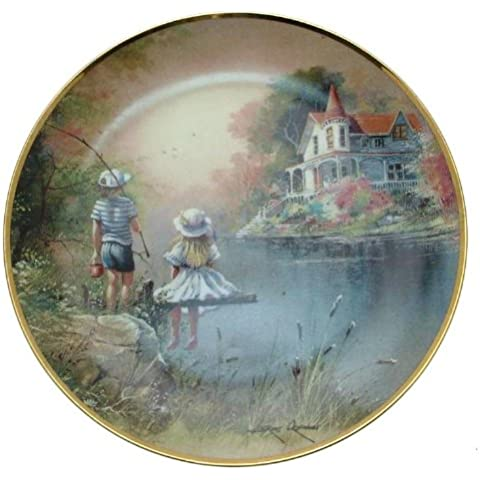 Franklin Mint Fishin Amici Andres Orpinas Collector Plate–cp1868