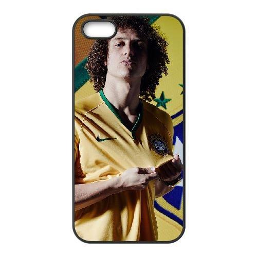 David Luiz coque iPhone 4 4S Housse téléphone Noir de couverture de cas coque EBDXJKNBO13362
