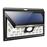Litom 24 LED Outdoor Security Solar Light, Wide Angle Design Wireless Motion Sensor Solar Wall Light Waterproof Solar-powered Lights With 3 LEDs Both Side For Garden, Patio, Deck, Yard, Driveway