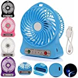 Mobielectro Mini Portable USB Rechargeable 3 Speed Fan  Colours May Vary