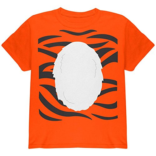 Halloween-Tiger Kostüm Jugend T Shirt Orange (Wild Kostüm Thing)