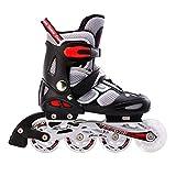 kele Quad Rollschuhe,LED-Licht, einzelrad,4 Rad Inline-Rollerblades Einstellbare Rollschuh Outdoor Skating für anfänger-B L Einstellbarer (37-41) Code