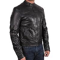 Brandslock degli uomini motociclista Bombardiere cuoio del progettista del cappotto del rivestimento