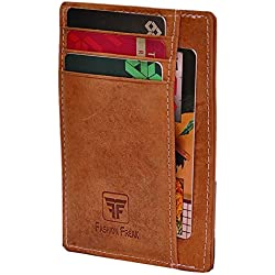 Fashion Freak Leather Credit Card Holder Slim Wallet (HUNTER)