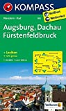 Augsburg - Dachau - Fürstenfeldbruck: Wanderkarte mit KOMPASS-Lexikon und Radwegen. GPS-genau. 1:50000: Wandelkaart 1:50 000 (KOMPASS-Wanderkarten, Band 190)